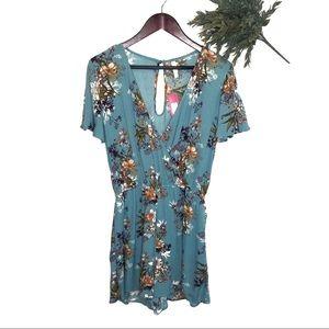 NWT Xhilaration Floral Shorts Romper